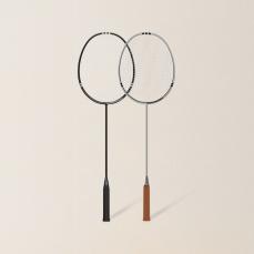 2只装 轻灵碳素羽毛球拍