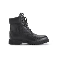 男式粒面牛皮防水工装靴