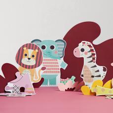 儿童大块动物益智拼图 24片
