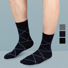 男式格型商务袜