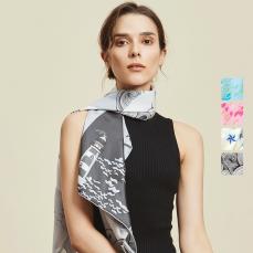 航海印花 女式100%真丝大方巾