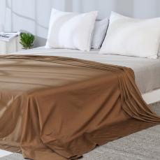 全棉贡缎纯色床单