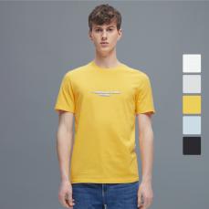 男式精梳棉字母印花短袖T恤衫