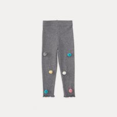女童绒球打底裤 1-8岁