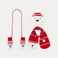 儿童帽子围巾组合 3件套装