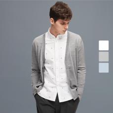 男式满绣牛津纺长袖衬衫