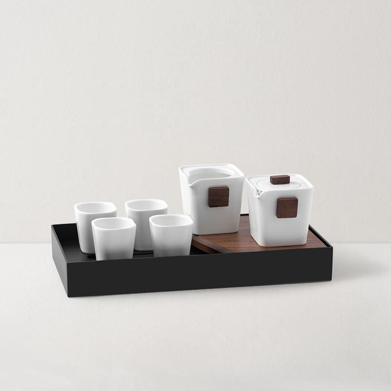 对白茶具茶盘礼盒7件套