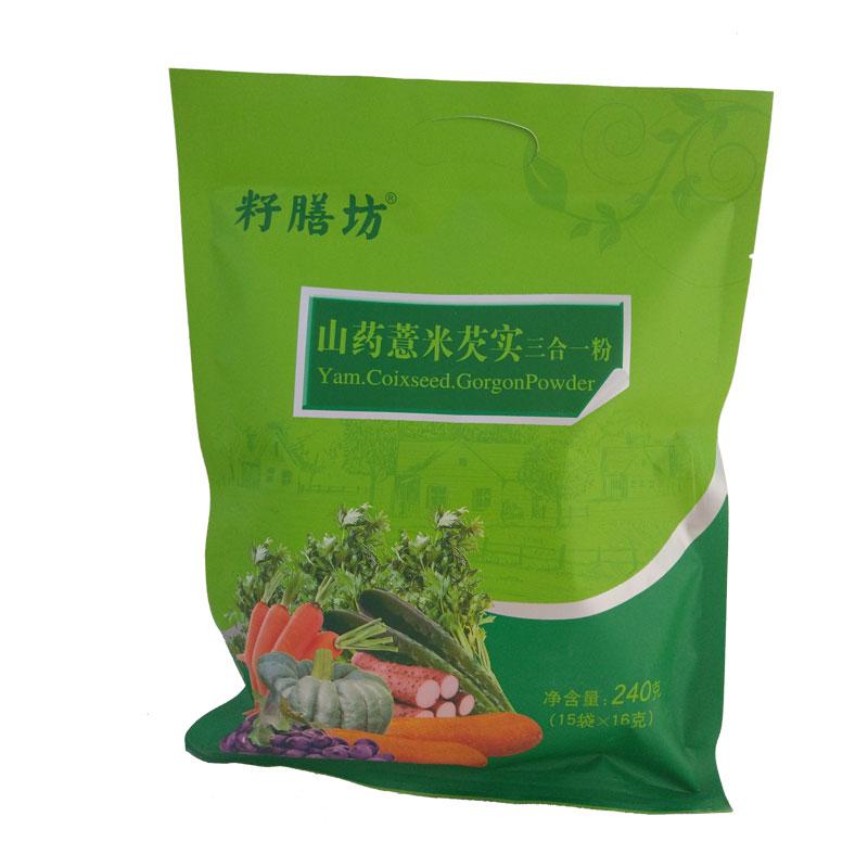 籽膳坊|山药薏米芡实粉熟粉240g/袋   淮山薏仁燕麦五谷杂粮粉