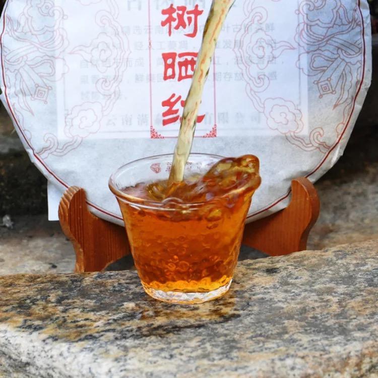 云南凤庆滇红茶 |古树晒红茶饼350g饼茶    晒青红茶 云南红茶