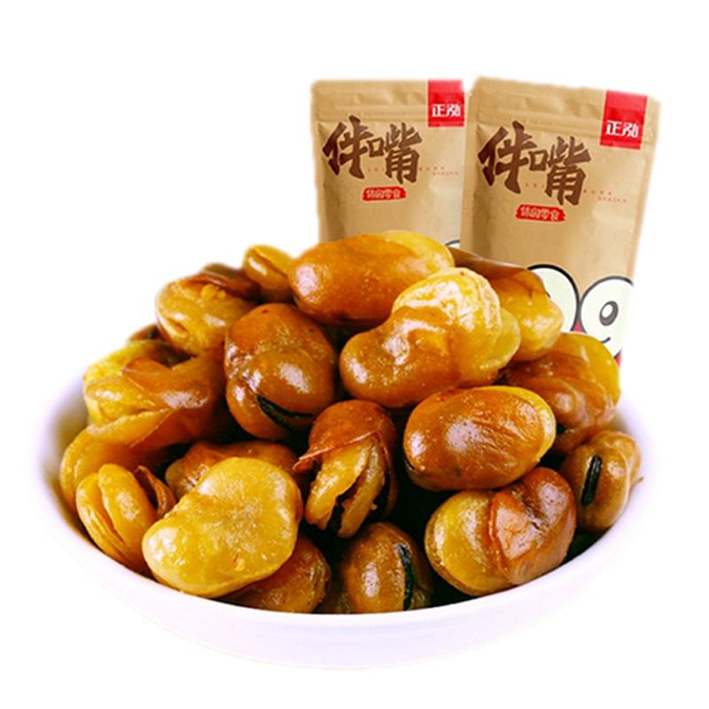 正泓_牛肉味蚕豆  多味兰花豆  网红抖音办公室休闲零食小吃208g/袋