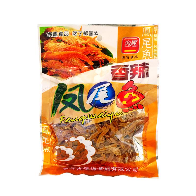 海趣香辣凤尾鱼150g/包  网红零食小吃小鱼仔 休闲食品鱼干 即食