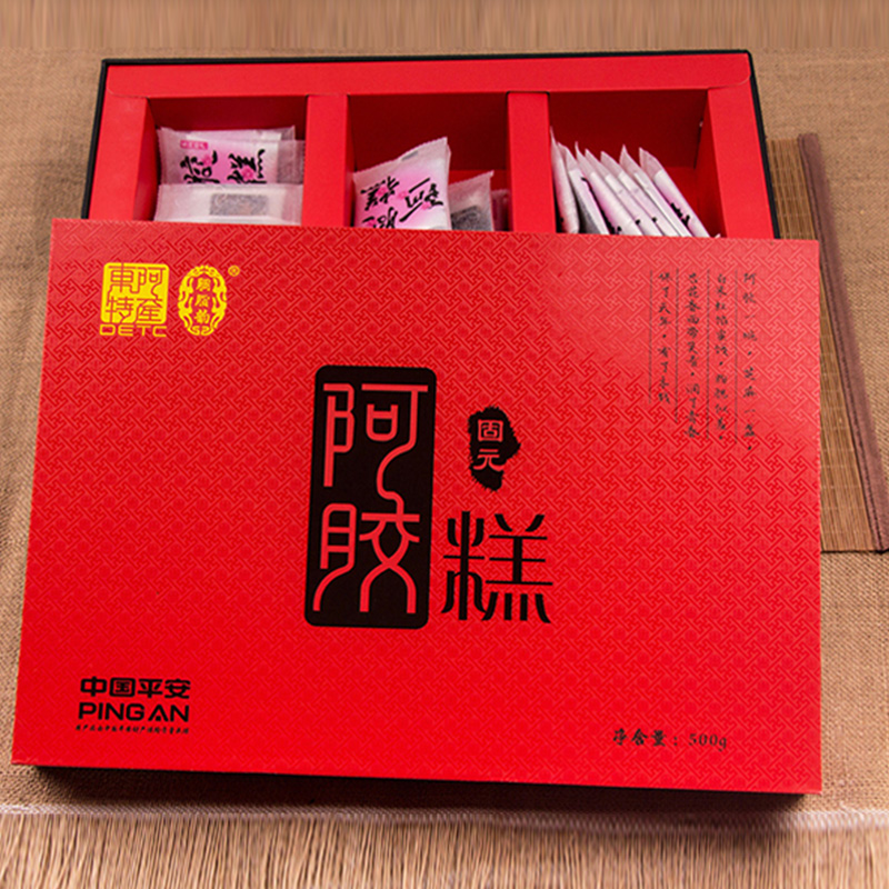 山东特产|山东东阿胭脂韵固元阿胶糕 500g/盒      美味滋补品