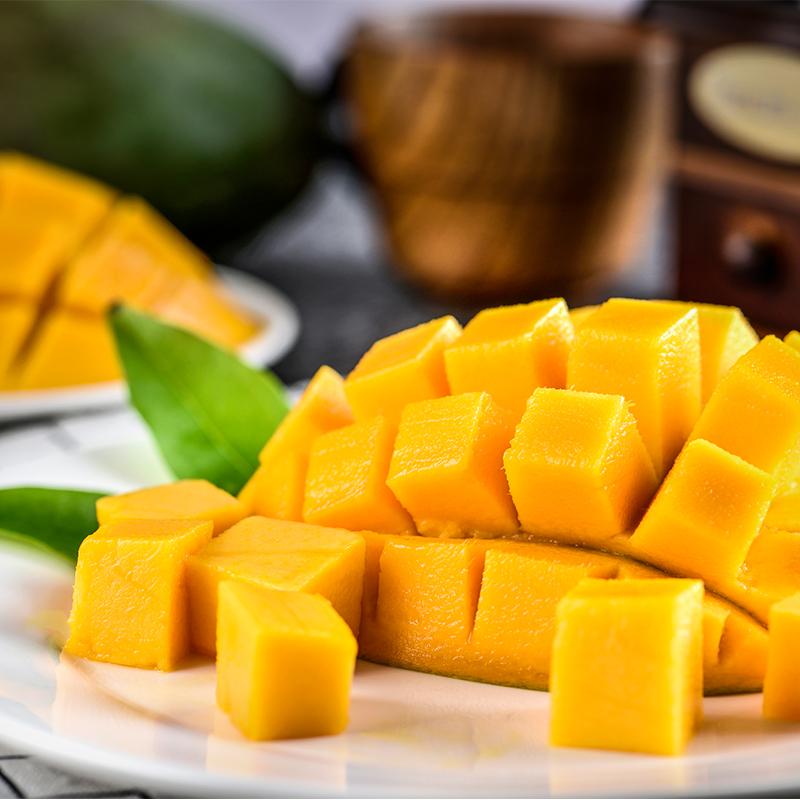 现摘越南玉芒新鲜3斤起装包邮当季热带水果甜心芒果